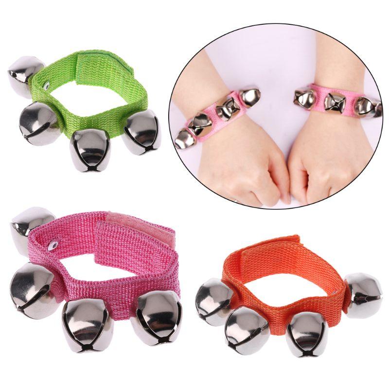 2Pcs Baby Wrist Bracelet Bell Hand Rattle Children Dancing Music Educational Toy N21_B