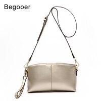 Begooer Genuine Leather Women Crossbody Bag Small Messenger Shoulder Bags Female Designer Brand Evening Bag Ladies Cluth Bags