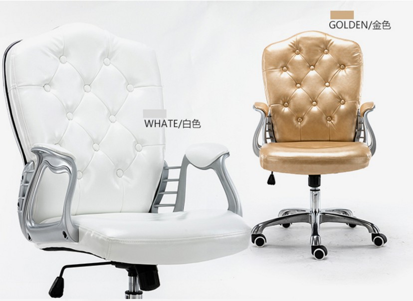 Image 2 - Multi Color Luxury Royal PU Home Computer Chair velvet Fabric Middle Back Manager Chair Modern Ergonomic Office Task Chair C60-in Office Chairs from Furniture