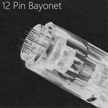 10pcs 12Pin Needle Derma Pen Bayonet Cartridge for Electric Auto Microneedle Derma Pen 12 pin Nano Needles Tip