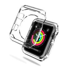 Funda para Apple Watch Series 2 3 38mm TPU suave funda transparente y duradera para Apple Watch Series 3 cubierta trasera protectora de 48mm(China)