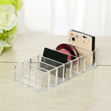 NEW Acrylic Makeup Organizer Show Shelf Rack Nail Polish Lipstick Storage Box(China)