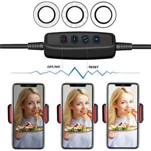 Image 4 - Wrumava 2 ב 1 LED טבעת אור עם Lazy טלפון Selfie מחזיק מחזיק 3 בהירות מנורת שולחן סוגר עבור טלפון אנדרואיד iPhone