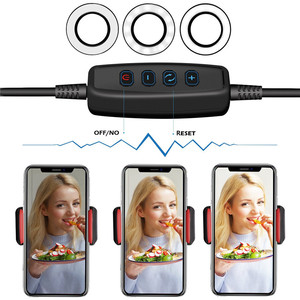 Image 4 - Wrumava 2 w 1 LED pierścień lampa leddo smartfona z leniwy uchwyt na telefon 3 jasność uchwyt na uchwyt lampy biurko dla iPhone Android telefon