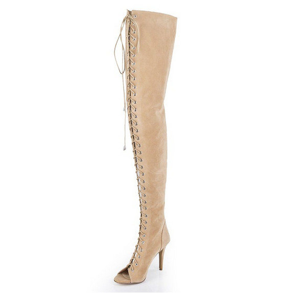 2017 New Style Summer Genuine Leather Women Sandals Shoes Woman  High Quality Classic Fashion Sandals Knee Boots  Dance Club