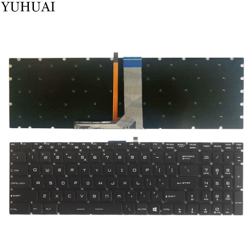 NOUVEAU US clavier d'ordinateur portable Pour MSI GS63 GS63VR MS-16K2 GS63VR 6RF GS63VR 7RF clavier US Avec rétro-éclairage