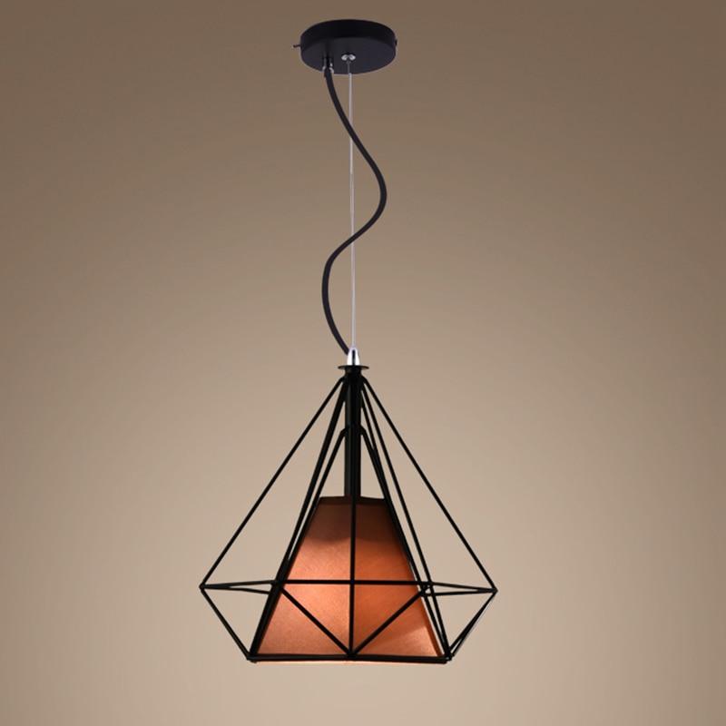 ФОТО Retro industrial 25cm x25cm diamond shape LED pendant light warehouse creative industrial light Restaurant Bar light with lamp