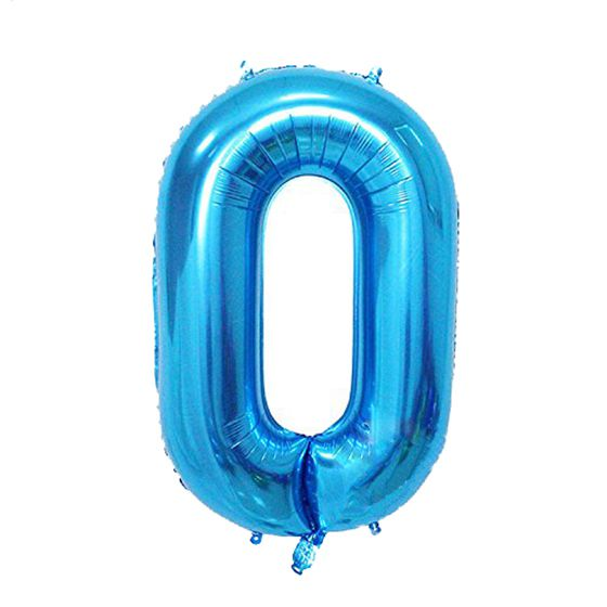 New Affordable 40inch Blue Number digital Aluminum Foil Helium Balloon for Birthday Party, Anniversary Party Decoration