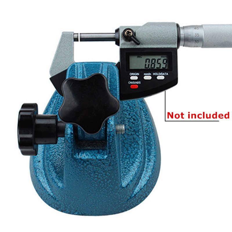 Support de micromètre extérieur réglable support en acier allié au carbure pour accessoires d'outils de mesure d'étrier de calibre micrométrique