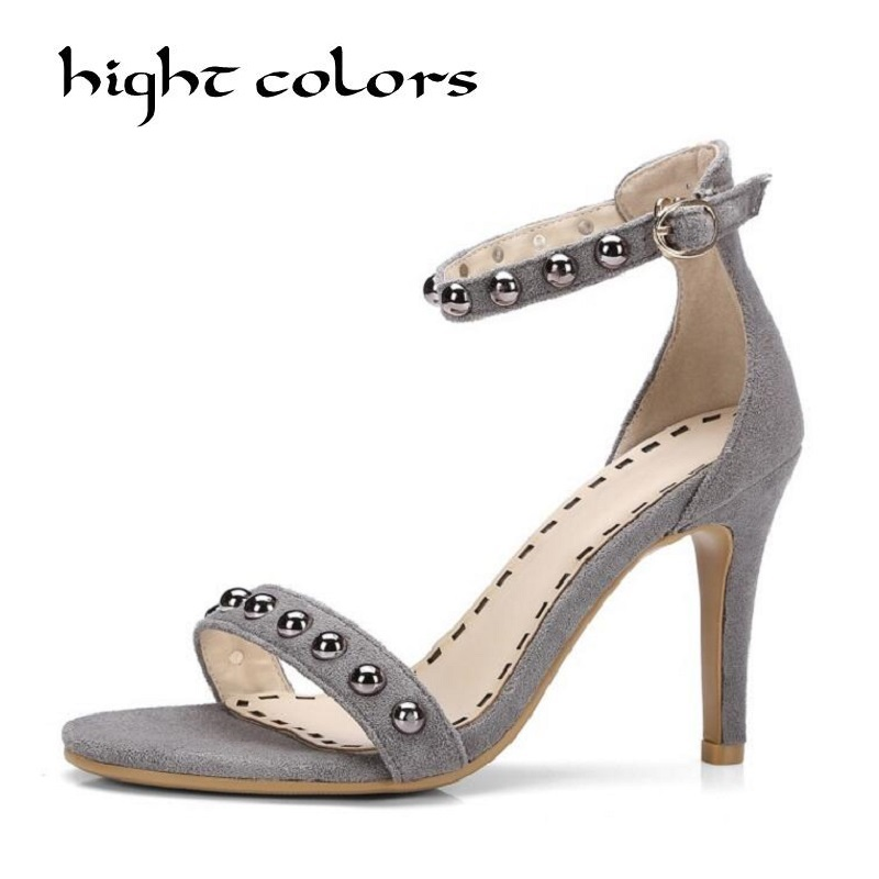 2018 Ankle Strap High Heels Women Sandals Summer Shoes Women Open Toe Stiletto Heels Party Dress Sandals Big Size 40 43 covibesco nude high heels sandals women ankle strap summer dress shoes woman open toe sandals sexy prom wedding shoes large size