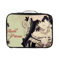 VEEVANV Fashion Black Butler Anime Prints Luggage Storage organizer For Women Men Collation Pouch Suitcase Waterproof Travel Bag