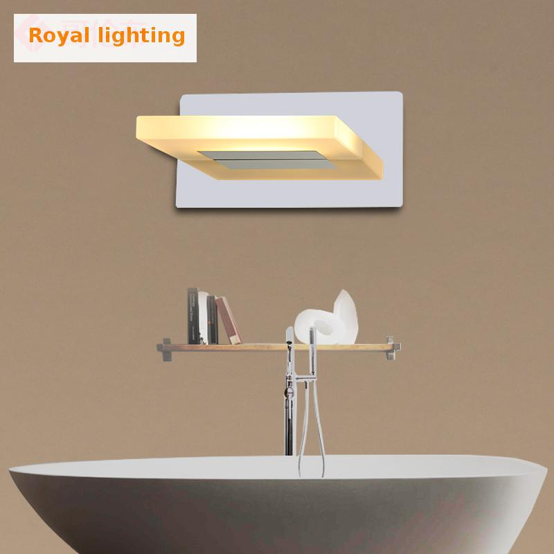 Bathroom 1 pcs acrylic Led mirror light indoor wall Lighting 5W wall sconce with led strip lightsource Toilet Wall Lamp Arandela modern led bathroom light stainless steel led mirror lamp dresser cabinet waterproof sconce indoor home wall lighting fixtures