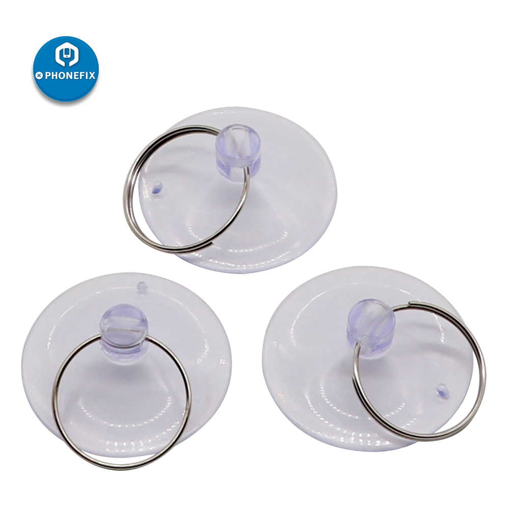 PHONEFIX 35mm High-end Sucker Suction Cups Mushroom Head Suckers Cup Button Transparent For Mobile Phone Repair Tools