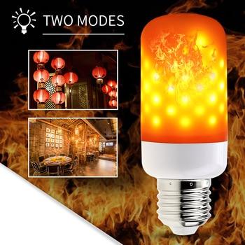E27 LED 220V Flame Effect Light Bulb E14 Bulb Fire Lamp E26 Flickering Emulation Candle Light Led 3W Creative Decoration Lamp wenni e27 led fire light bulb e26 flame effect bulb e14 led 220v burning flickering emulation led flame lamp creative decoration