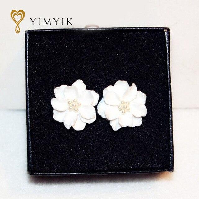 YimYik 1 para frauen ohrringe Große Weiße Blume Ohrringe Für Frauen ...