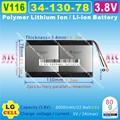 [V116] 3.8 V, 3.7 V, 6000 mAH, [3413078] Polymer lithium ion/Li-ion bateria para tablet pc, telefone celular, telefone MÓVEL, BANCO de POTÊNCIA, MP4; E-BOOK