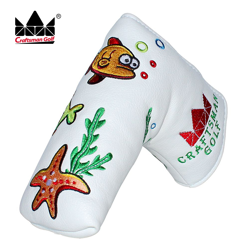 Free Shipping OEM Golf Putter Cover Craftsman Headcovers With Magnet High Quality