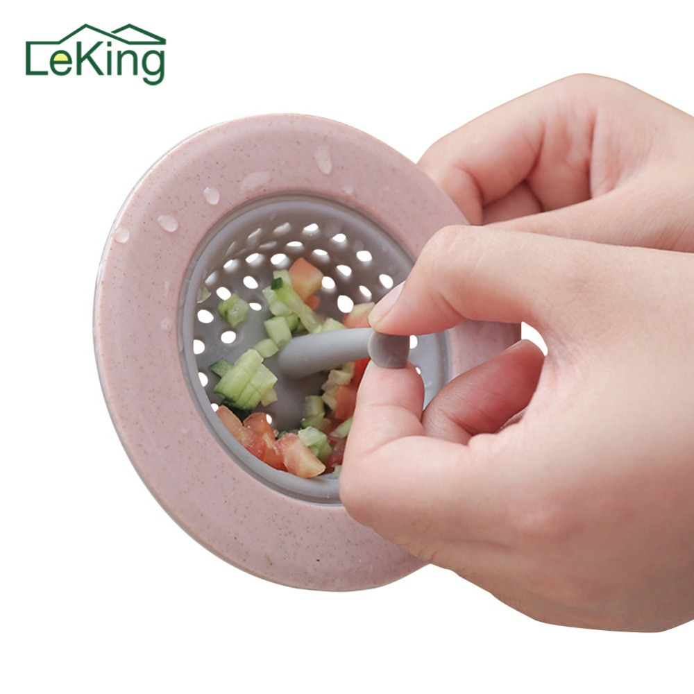 LeKing Kitchen Sink Strainer Shower Sinks Drains Cover Sink Colander Sewer Hair Stopper Filter Strainers Bathroom Accessories