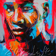 Palette knife portrait Face Oil painting christmas figure canva Hand painted Francoise Nielly wall Art picture221