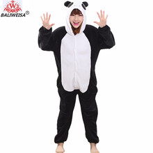 BALIWEISA 2017 Christmas Women Pajamas Unicorn Stitch Unicorn Cartoon Hooded Pajamas Adult Animal Flannel Sleepwear Pajamas Sets