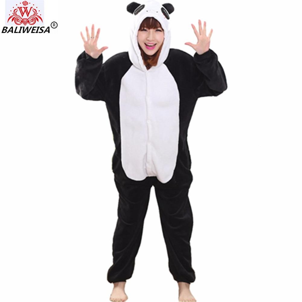 BALIWEISA 2017 Christmas Women Pajamas Unicorn Stitch Unicorn Cartoon Hooded Pajamas Adult Animal Flannel Sleepwear Pajamas Sets