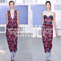 Качество ручной работы 120 см широкий красный синий Цветочный Embroideried молочного шелка вырез кружевное платье Cheongsam ткани S122