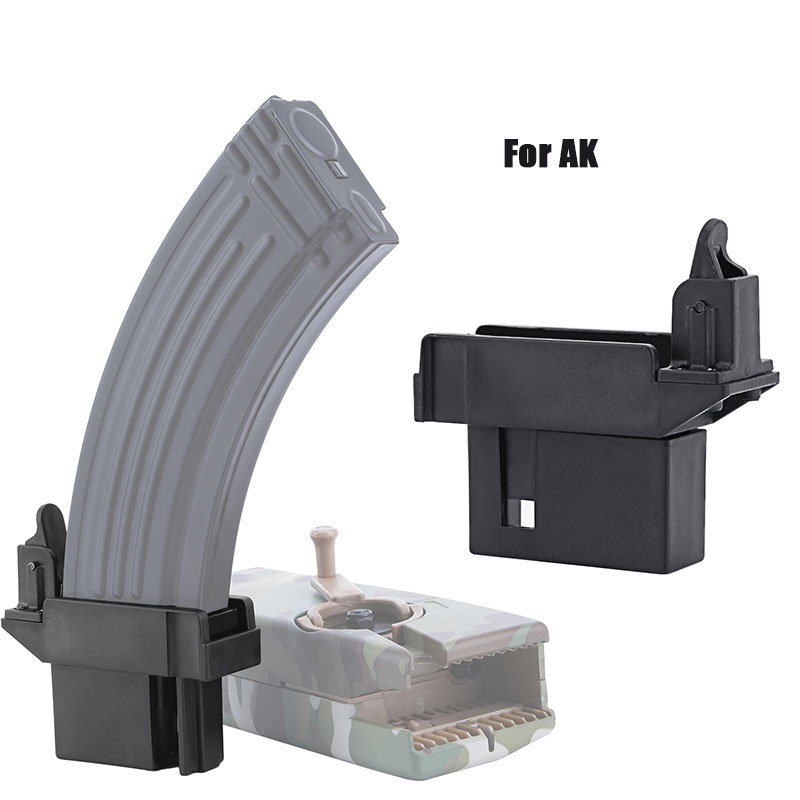 Tactical Military Equipment M4 1000rd BB Speed Loader/Converting Adaptor AK G36 MP5 Magazine Quick Loader Hunting Accessories