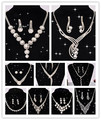 Классический Невеста Ювелирные Наборы Кристалл Горного Хрусталя Ожерелье Невесты Acessory Бесплатная Доставка
