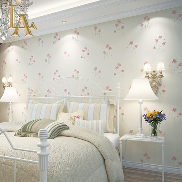 Great Pastoral Cozy Pink Blue Flower Wallpaper For Walls 3 D Embossed Bedroom Living  Room Modern Home Part 32