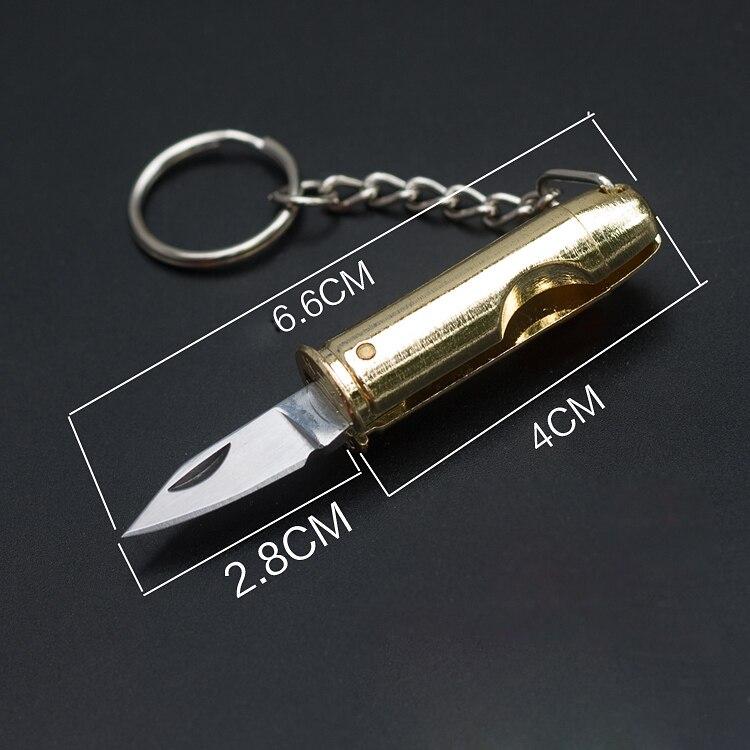 Cog mini dobrável faca ebony lidar com chaveiro bolso do vintage acampamento caminhadas útil kit ferramenta em forma de bala