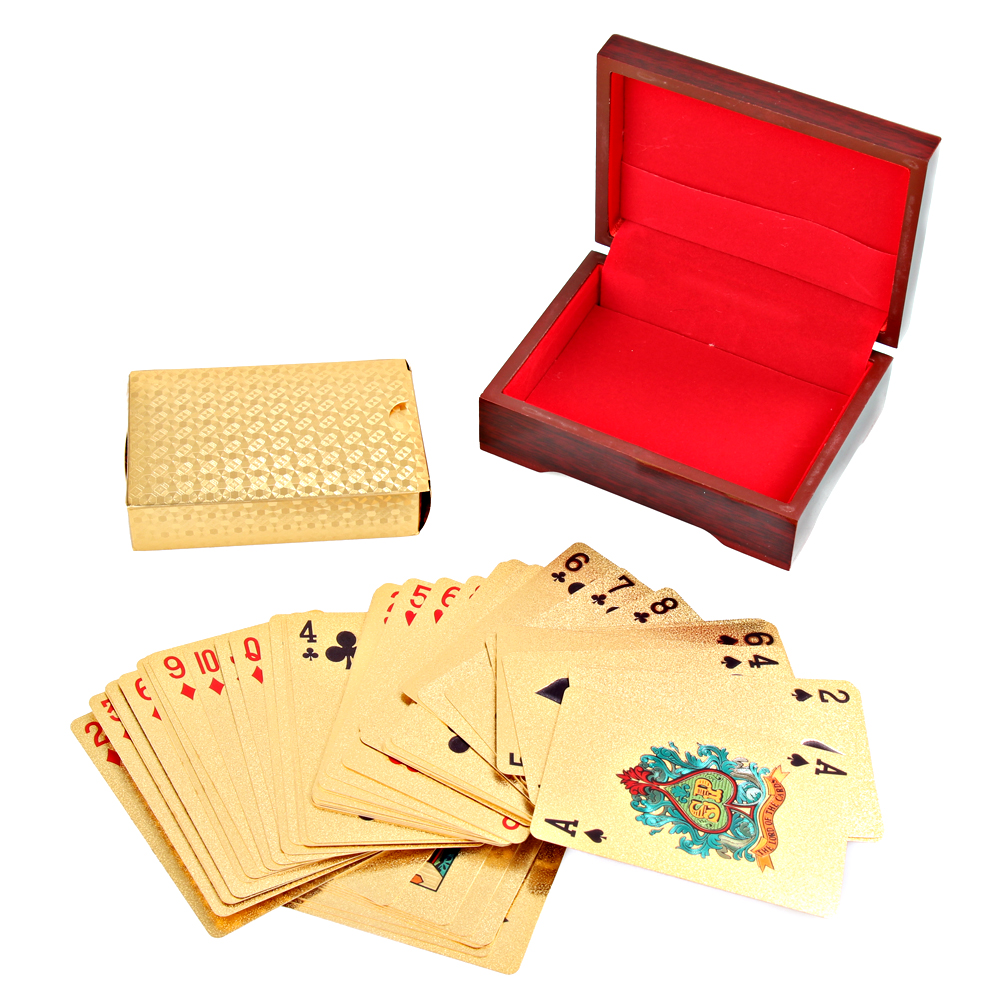 Gambling Pokerstars Gold Foil Plated Playing Cards Texas Holdem Poker Bling Poker Card Funny Party Magic Show Props Gift
