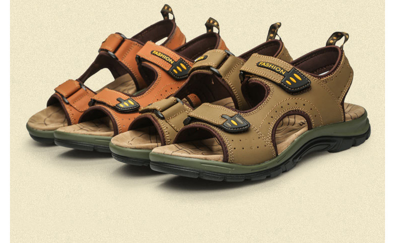 New 2016 Summer Casual Men Quality Leather font b Sandals b font Brand Men s font