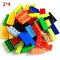 100 g/lote! alta 2*4 8 Partículas Clássico Pequena Blocos de Construção de Tijolos DIY Brinquedos Compatíveis com lepin legoe