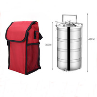 Camping Portable Lunch Box Stainless Steel Bento Box Large Capacity 2 3 4 Layer Adult Leakproof Container Free Shipping