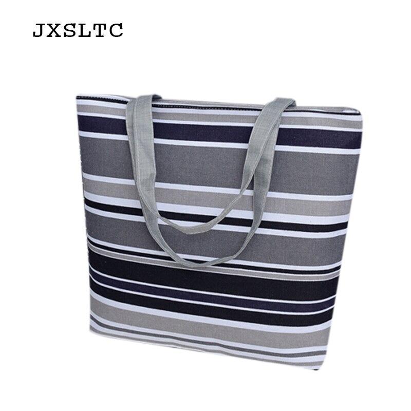 JXSLTC New Women Canvas Handbag Girl Weekend shopping bag Shoulder Handbags Womens High Capacity Beach Bag Tote Hand Bags