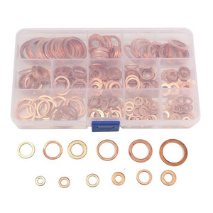Image 2 - 280Pcs/Set Seal Assortment Set Copper Washer Gasket Nut Oil Copper Rings Discs MAL999