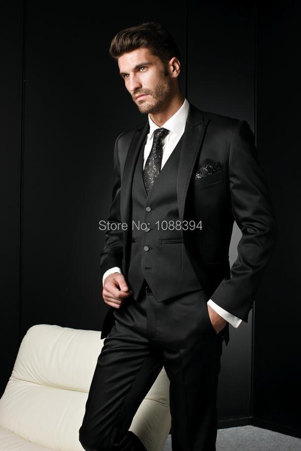 Popular Black Slim Suit-Buy Cheap Black Slim Suit lots from China ...