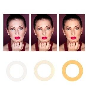 Image 5 - Anillo de luz LED para Selfie iluminación regulable con cabezal de cuna para maquillaje y vídeo en vivo, 16/26cm, tres velocidades