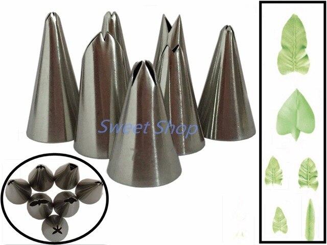 Set di 7 pz Russo Tulipano Icing Piping Ugelli Della Torta Decorazione di Punte