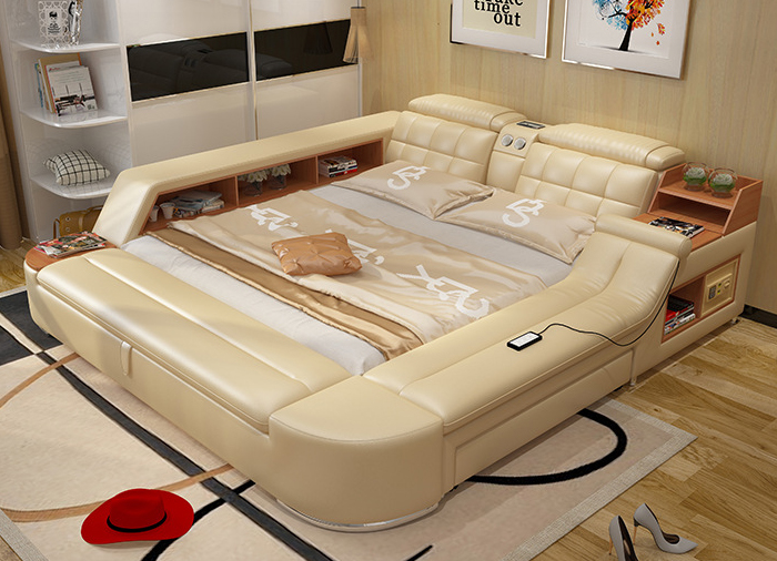2018 Hot Sale New Moveis Para Quarto Modern Bedroom Set Furniture Massage Soft Bed With Hifi Speaker Bluetooth ...