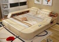 Muebles де Мадера мебель Лидер продаж Новый Moveis Para кварто современная спальня Массажная мягкая кровать с Hifi динамик Bluetooth