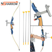 1set Children Bow And Arrow Set With Sight Safety Sucker Arrowhead For Shooting Practice Archery Game Kit Gift