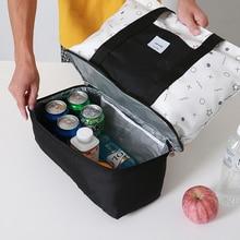 Yalıtımlı soğutucu çanta kadın taşınabilir termal yemek kabı seyahat piknik gıda içecek taze tutmak saklama kutusu çanta organizatör