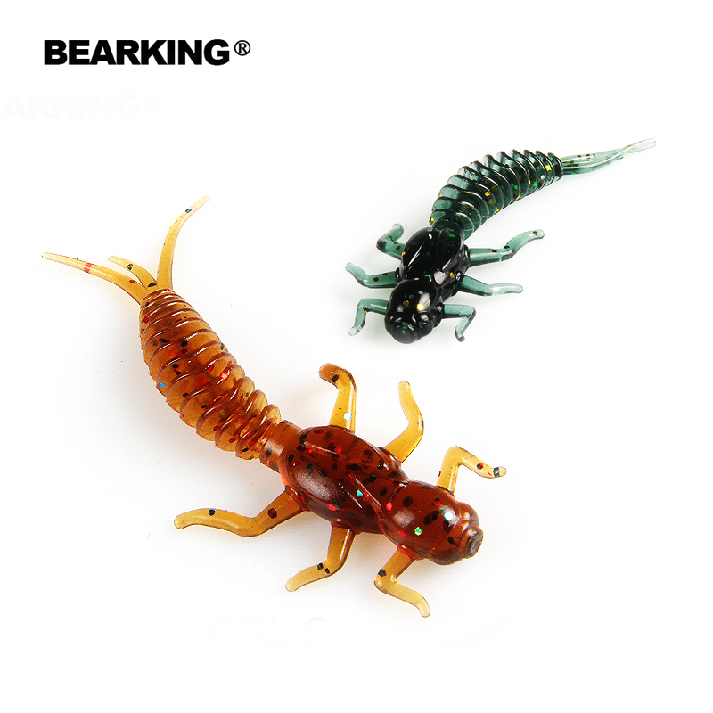 BEARKING New Larva Soft Lures 50mm 60mm Fishing Artificial Lures Silicone Bass Pike Minnow Swimbait Jigging Plastic Baits Worm