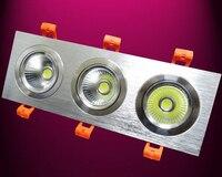 Gratis Verzending Dimbare 3x9 w Warm Koud Wit LED Plafond Downlight COB Downlight Verzonken Licht Lamp AC85-265V