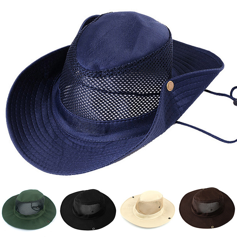 c0746e954e4c1e Men Women's Outdoor Wide Brim Sun Hat Side Snap Chin Cord Fishing Hiking Cap  CamouflageSummer Jungle