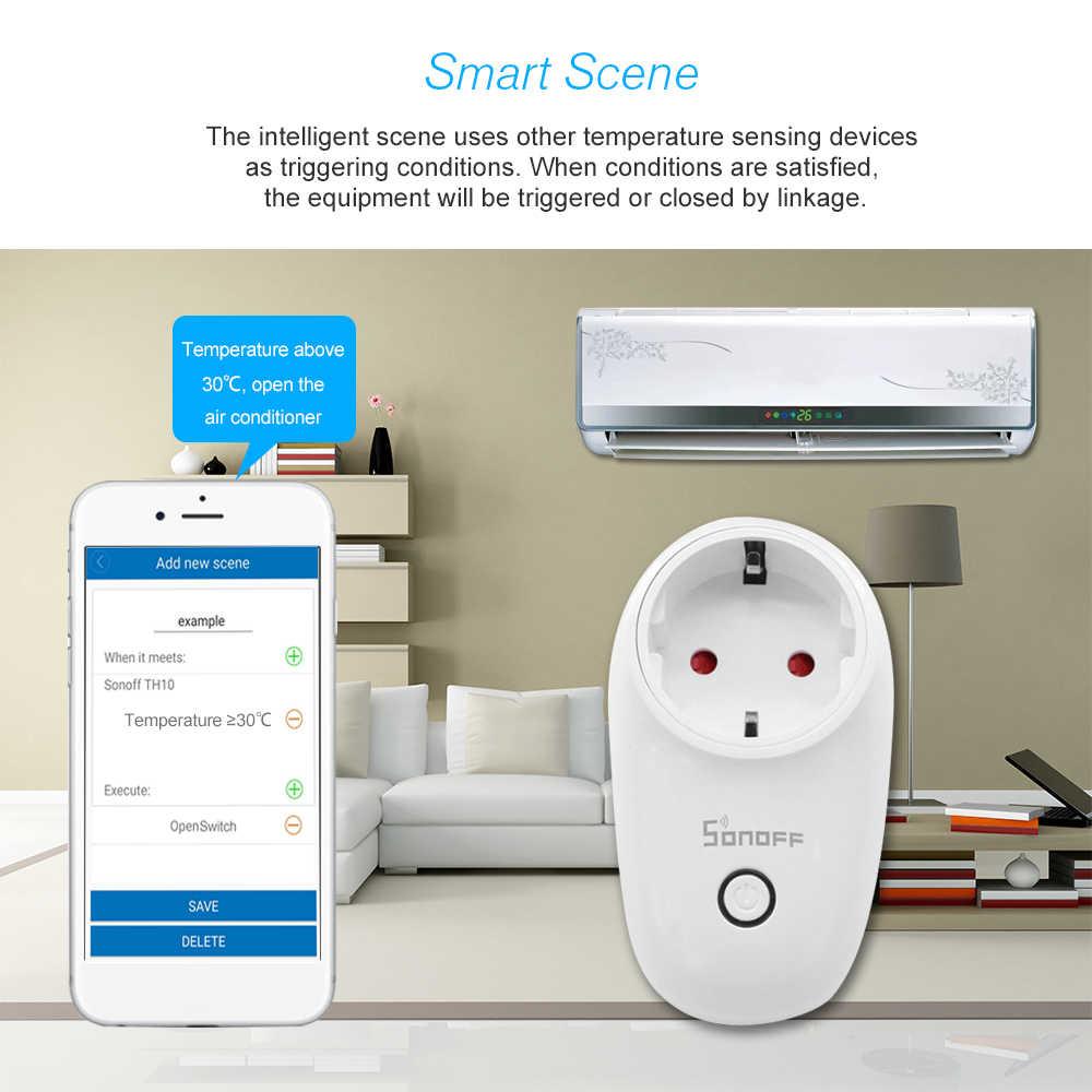 Sonoff S26 WiFi inteligentna wtyczka automatyzacji domu pilot bezprzewodowy kontroli adapter APP sterowania gniazdo dla telefon komórkowy ue/usa /UK/CN/AU