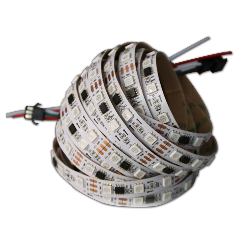 200m 2811 Pixels Programmable individuelle adressable LED bande lumineuse WS2811 LED pixel bande lumineuse Rgb couleur 5050