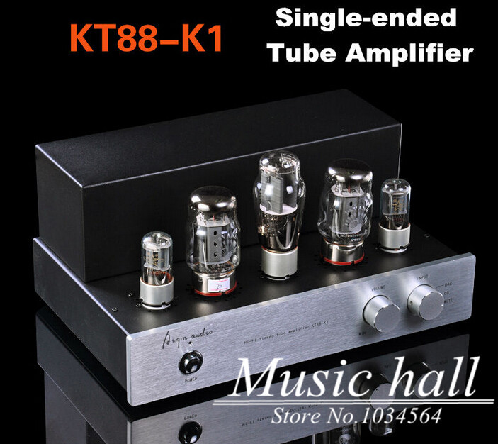 Music Hall Aiqin 15W*2 HIFI Stereo Single-ended 2.0 Channel Power AMP KT88-K1 Vacuum Integrated Tube Amplifier music hall latest muzishare x7 push pull stereo kt88 valve tube integrated amplifier phono preamp 45w 2 power amp