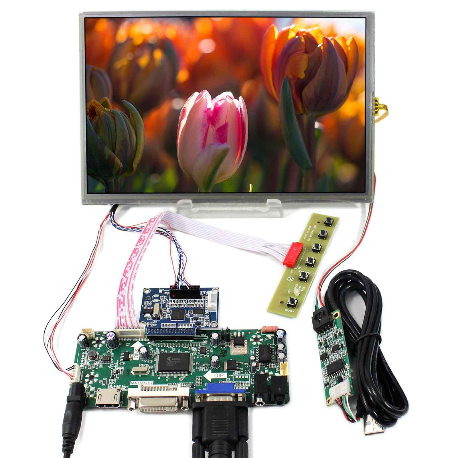 HDMI+VGA+DVI+Audio Controller Board With 1920x1200 10.1inch B101UAN01.A Resistive Touch PanelHDMI+VGA+DVI+Audio Controller Board With 1920x1200 10.1inch B101UAN01.A Resistive Touch Panel